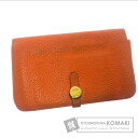 Authentic HERMES  Dogon GM (With coin purse) Purse Clemence taurillon
