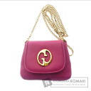 Authentic GUCCI  with logo Shoulder bag Leather