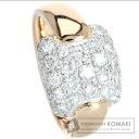 Diamond Ring 18K Pink Gold PT900 Eight