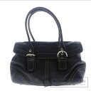 Authentic COACH  with logo Shoulder bag Leather