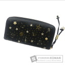 Authentic Jimmy Choo  Constellation motif star pattern (With coin purse) Purse Leather