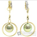 Pearl Pearl Earring 18K Yellow Gold K18WG 4.6