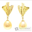 0.11ct Pearl Pearl Earring 18K Yellow Gold  16.2