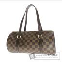 Authentic LOUIS VUITTON  Papillon pouch N51304 Handbag Damier Canvas
