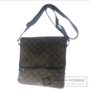 Authentic LOUIS VUITTON  Macassar bus MM M56715 Shoulder bag Monogram canvas