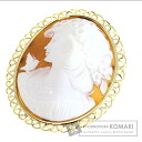 Cameo top Brooch 18K Yellow Gold  19.6