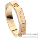 Authentic GUCCI  8 ring octagonal Ring 18K Pink Gold
