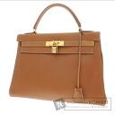 Authentic HERMES  Kelly 32 retourne Handbag Courchevel