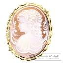 Cameo Brooch 18K Yellow Gold  19.6