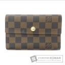 Authentic LOUIS VUITTON  Porutofoiyu Alexandra N63067 (With coin purse) bi-fold wallet Damier Canvas
