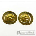 Authentic CHANEL  Sun motif Earring Metal