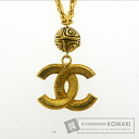 Authentic CHANEL  COCO Mark Necklace Metal