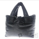 Authentic CHANEL  Coco Cocoon COCO Mark Tote bag Leather