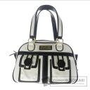 Authentic Samantha Vega  Button motif by color Handbag Leather