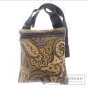 Authentic ETRO  Paisley logo plate with Shoulder bag Nylon