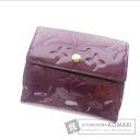 Authentic LOUIS VUITTON  Porutomone Bie Cartes Crédit M91170 (With coin purse) bi-fold wallet Vernis