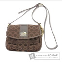 Authentic COACH  12 988 Madison Op Art Holly Shoulder bag Satin Leather