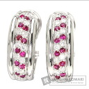 0.28ct Ruby Earring PlatinumPT900  14.4