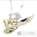 Diamond Necklace 18K White Gold 18K Yellow Gold 12.8
