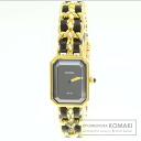 Authentic CHANEL Premiere XL Watch Gold Plated   Ladies