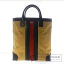 Authentic GUCCI  with logo Handbag Canvas