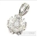 1.01ct Diamond Flower Pendant Top PlatinumPT900  2.7