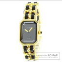 Authentic CHANEL Premiere Watch Gold Plated Leather  Ladies