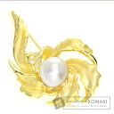 0.18ct Pearl Brooch 18K Yellow Gold  19.5