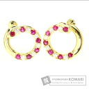 1ct Ruby Earring 18K Yellow Gold  7.6
