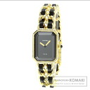 Authentic CHANEL Premiere Watch Gold Plated Leather