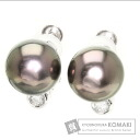 0.1ct Black Pearl Pearl Earring PlatinumPT900  7.3