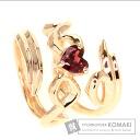 0.63ct Garnet ribbon motif Ring 18K Pink Gold  5.7