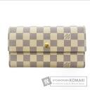 Authentic LOUIS VUITTON  Portefeiulle International N61732 (With coin purse) Purse Damier Canvas