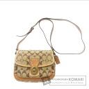 COACH signature pattern shoulder bag canvas Womens
