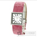 Authentic CHANEL Mademoiselle Watch SS Leather  Ladies