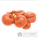 Coral Brooch Metal  16.9