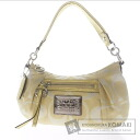 Authentic COACH  2WAY with logo Shoulder bag Canvas x Leather