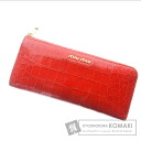 Authentic MIUMIU  Design embossed (With coin purse) Purse Calfskin