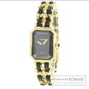Authentic CHANEL Premiere Watch Gold Plated Gold Platedx leather  Ladies