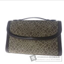 Authentic NINA RICCI  Logo pattern business bag PVC Leather