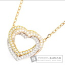 Authentic CARTIER  Trinity Heart / Diamond Necklace K18 Gold