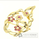 Ruby Brooch 18K Yellow Gold  10.3