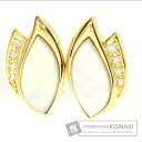 Authentic TASAKI  Shell / Diamond Earring 18K Yellow Gold