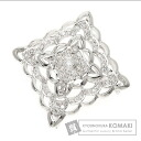 0.44ct Diamond diamond Brooch 18K White Gold  6.3