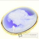 Stone cameo Schmitt work Brooch 18K Yellow Gold  18.3