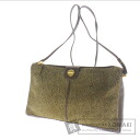 Authentic BORBONESE  Quail pattern Shoulder bag Suede