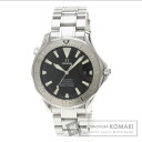 Authentic OMEGA Seamaster300M Watch 18K White Gold SS  Men