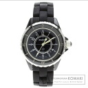 Authentic CHANEL J12 Watch stainless steel Rubber  Ladies