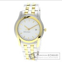 Authentic GUCCI Logo design Watch stainless steel Gold Plated  Men