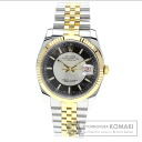Authentic ROLEX Datejust Watch stainless steel SSxK18YG  Men